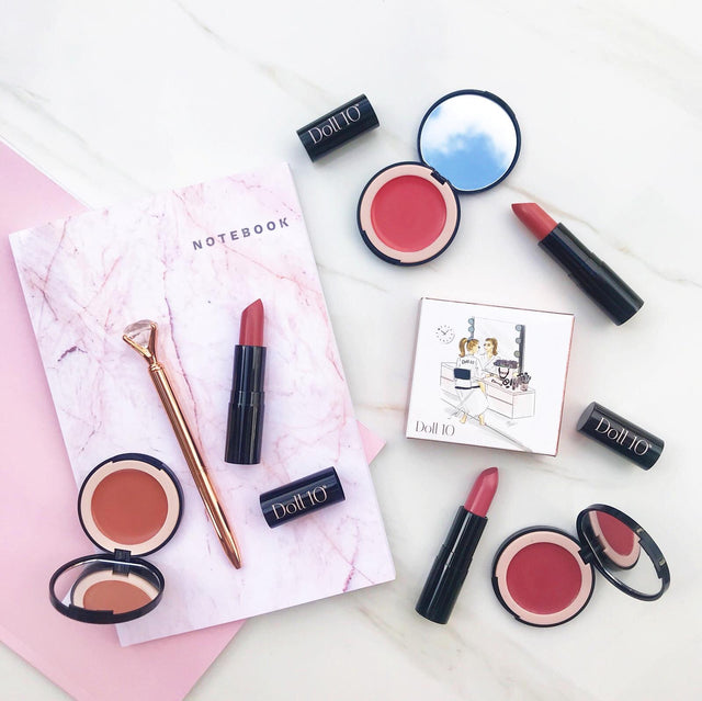 Brighten Your Beauty 6-Piece Lip and Cheek Collection