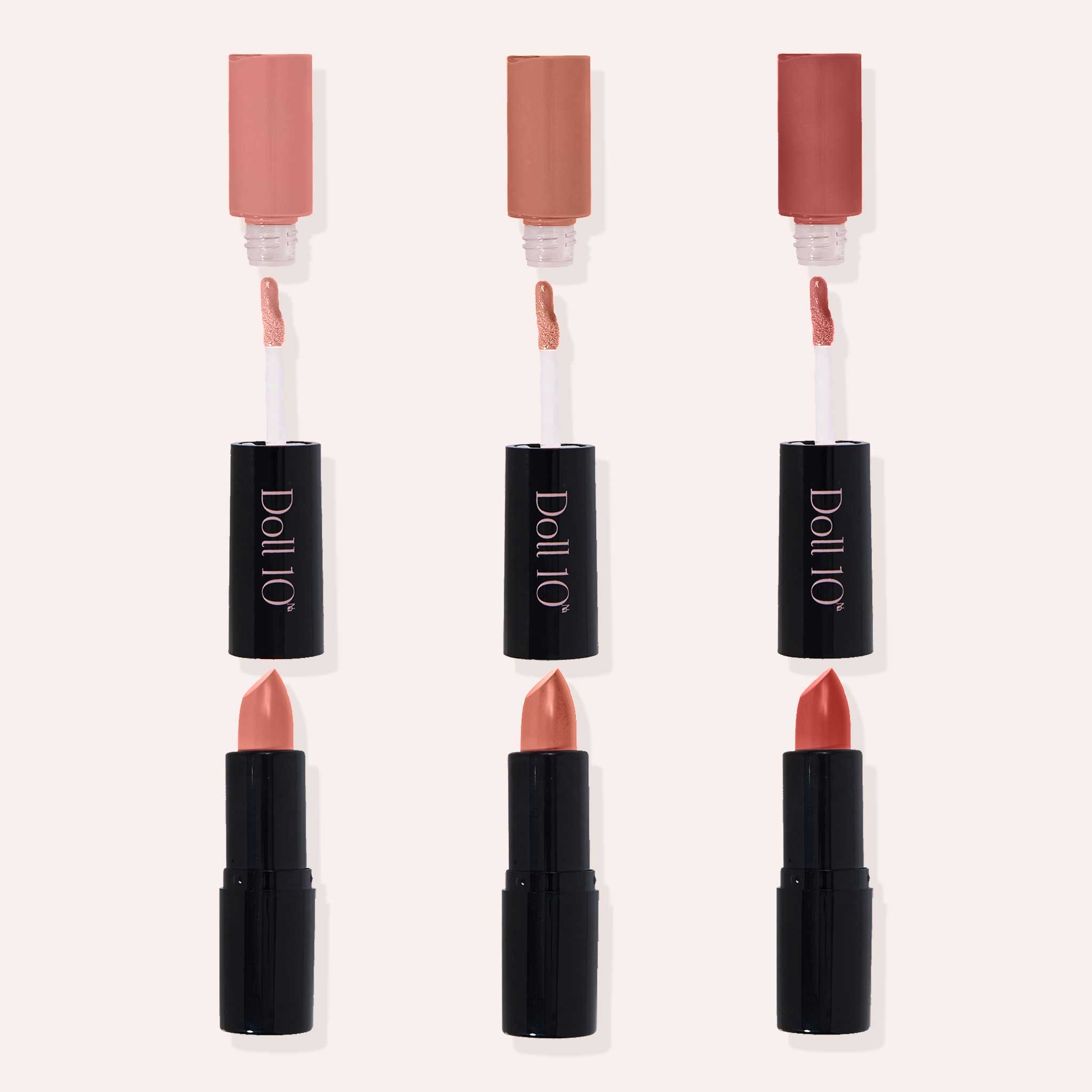 Luxurious Lips Nude Lip Wardrobe 6-Piece Collection