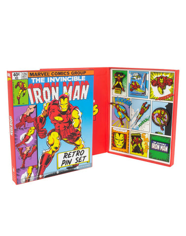 IRON MAN RETRO PINS