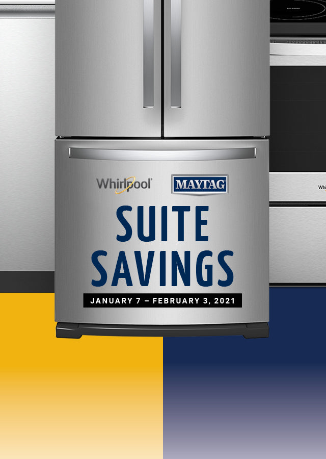 Whirlpool Maytag Suite Savings Event banner