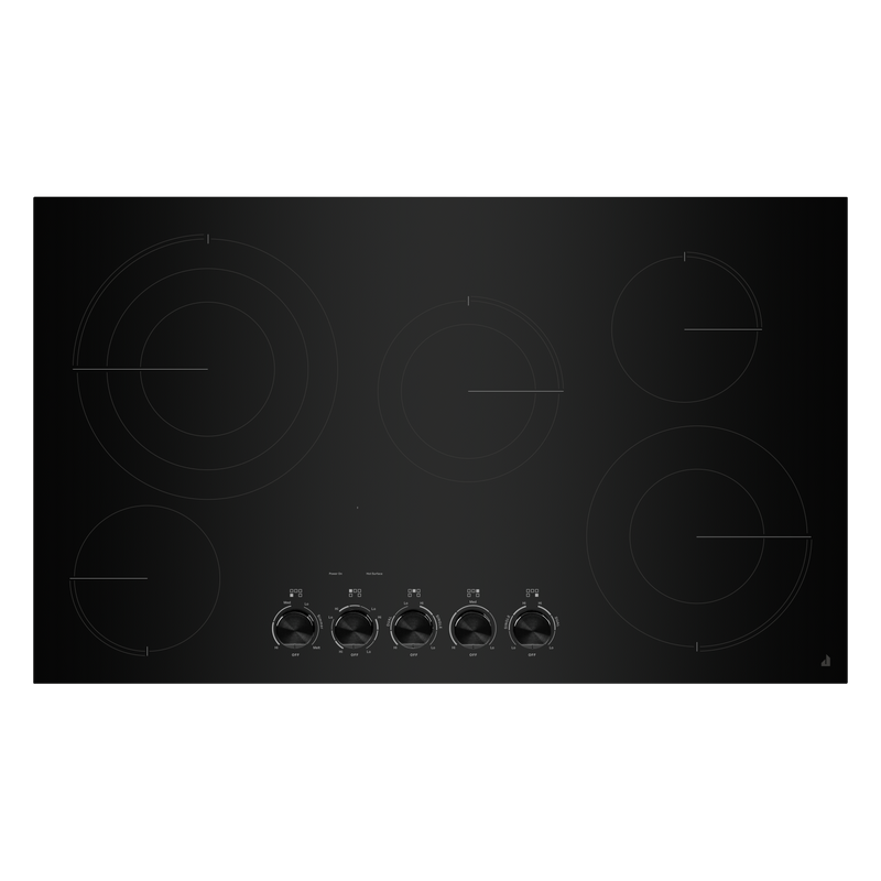 "36"" Oblivion Glass Radiant Cooktop with Halo-Effect Knobs JEC3536HB"