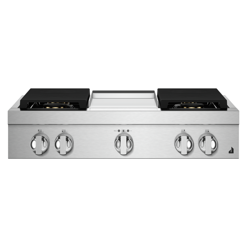 "36"" RISE™ Gas Professional-Style Rangetop with Chrome-Infused Griddle JGCP536HL"