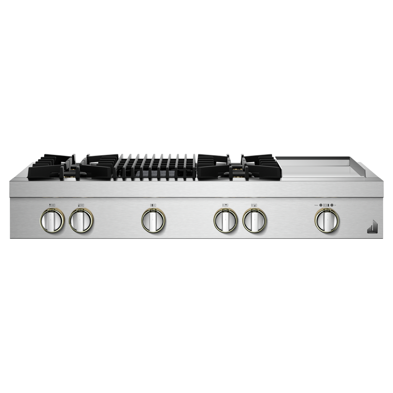 "48"" NOIR™ Gas Professional-Style Rangetop with Chrome-Infused Griddle and Gas Grill JGCP748HM"