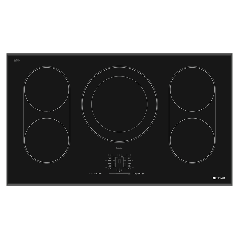 "Black Floating Glass 36"" Induction Cooktop JIC4536XB"