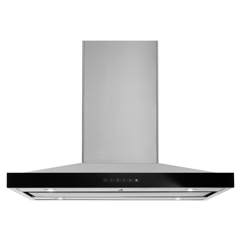 "Lustre Stainless 36"" Pyramid Style Island Mount Canopy Hood JXI8536HS"