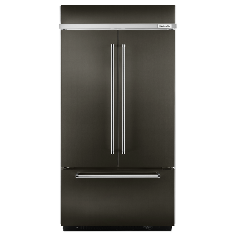 "24.2 Cu. Ft. 42"" Width Built-In Stainless French Door Refrigerator with Platinum Interior Design KBFN502ESS"