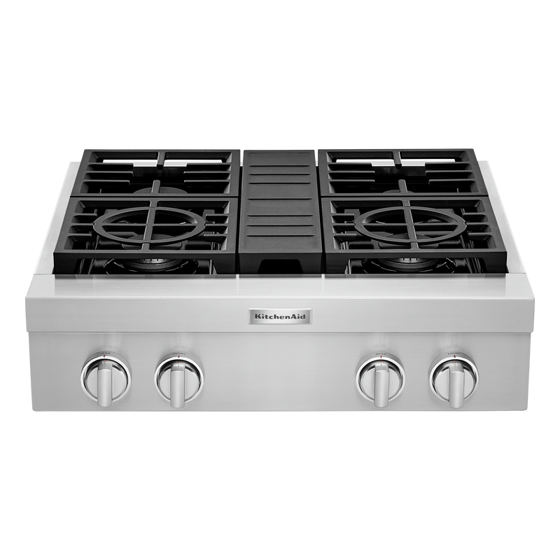 KitchenAid® 30'' 4-Burner Commercial-Style Gas Rangetop KCGC500JSS