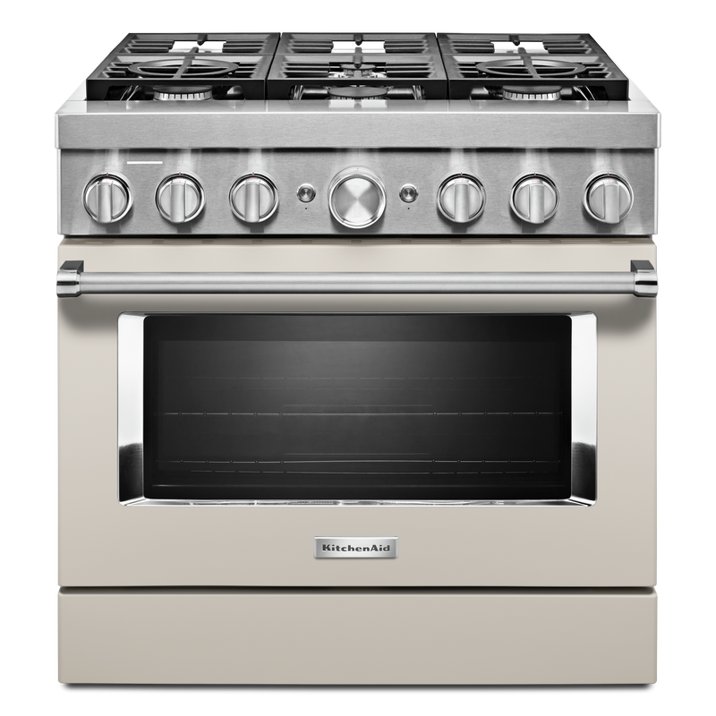 KitchenAid® 36'' Smart Commercial-Style Dual Fuel Range with 6 Burners KFDC506JAV