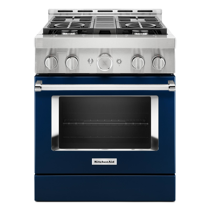 KitchenAid® 30'' Smart Commercial-Style Gas Range with 4 Burners KFGC500JMB