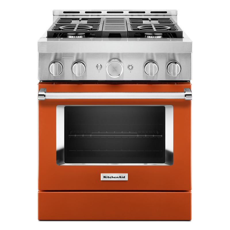 KitchenAid® 30'' Smart Commercial-Style Gas Range with 4 Burners KFGC500JPA