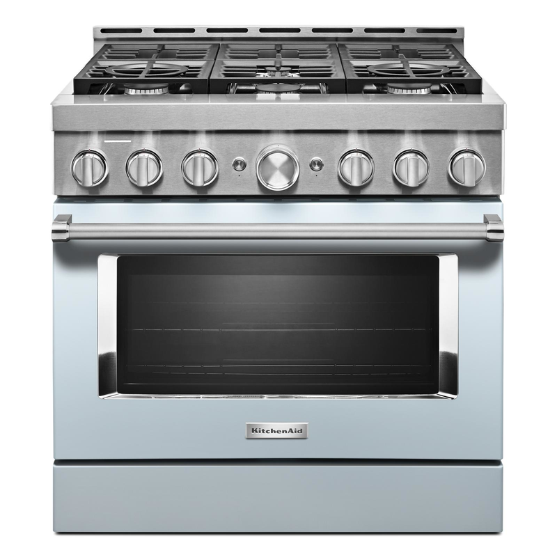 KitchenAid® 36'' Smart Commercial-Style Gas Range with 6 Burners KFGC506JSS