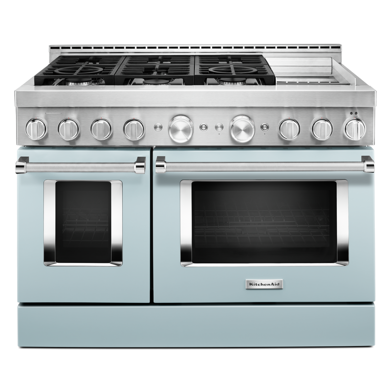 KitchenAid® 48'' Smart Commercial-Style Gas Range with Griddle KFGC558JYP