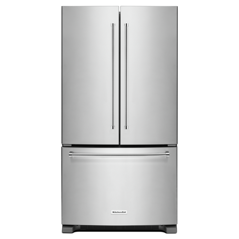 25 cu.ft. 36-Width Standard Depth French Door Refrigerator with Interior Dispense KRFF305ESS