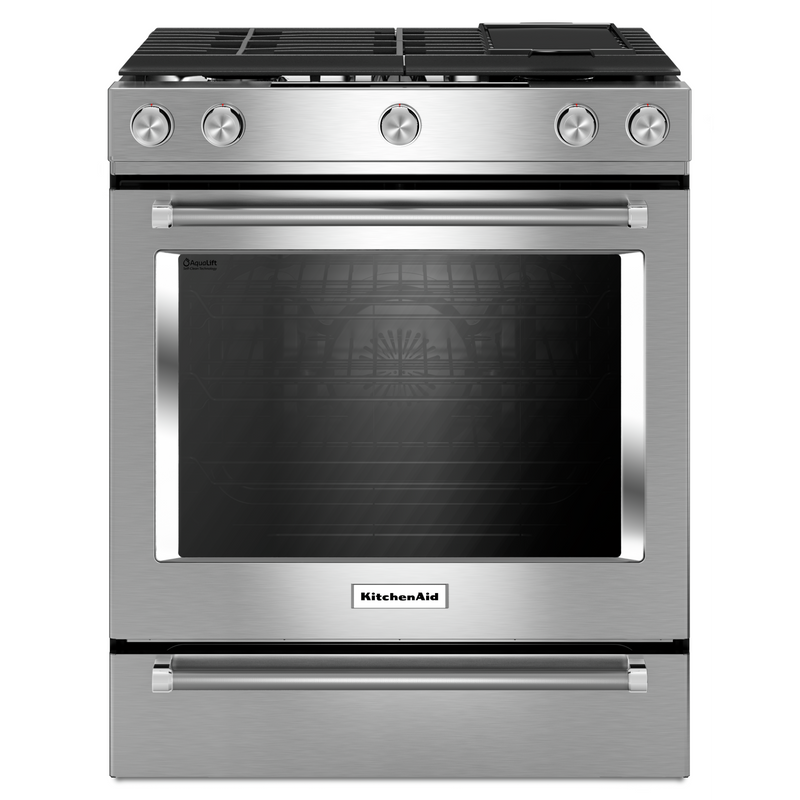 30-Inch 5 Burner Front Control Gas Convection Range with Baking Drawer KSGB900ESS