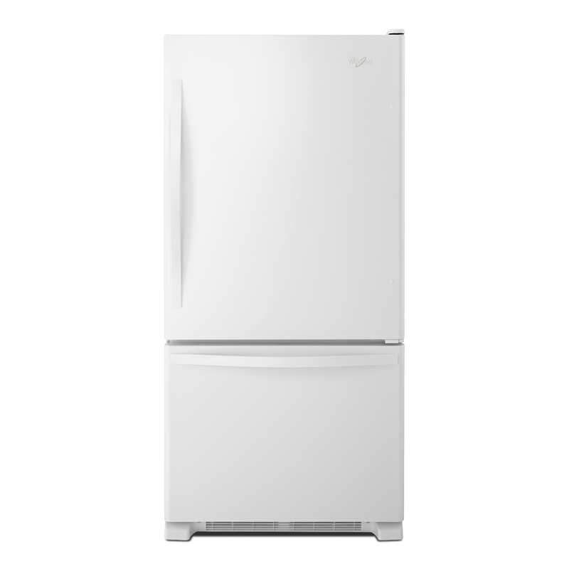 Whirlpool® 22 cu. ft. Bottom-Freezer Refrigerator with Freezer Drawer WRB322DMBB