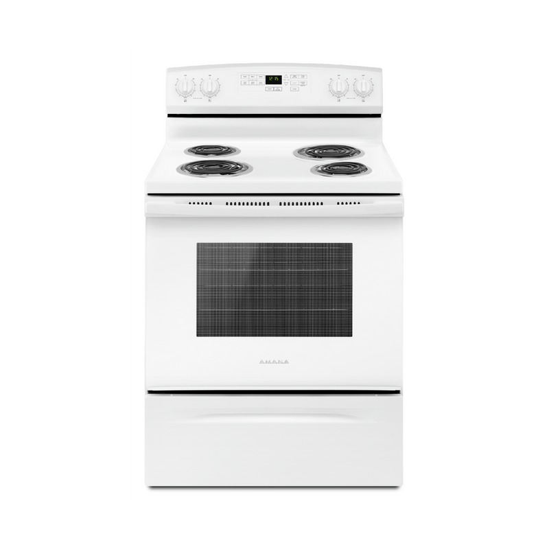 30-inch Amana® Electric Range with Self-Clean Option YACR4503SFW