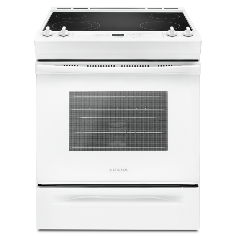 30-inch Amana® Electric Range with Front Console YAES6603SFW