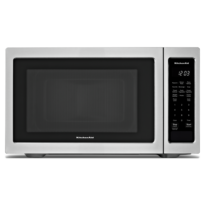 "KitchenAid® 21 3/4"" Countertop Microwave Oven - 1100 Watt YKMCS1016GS"