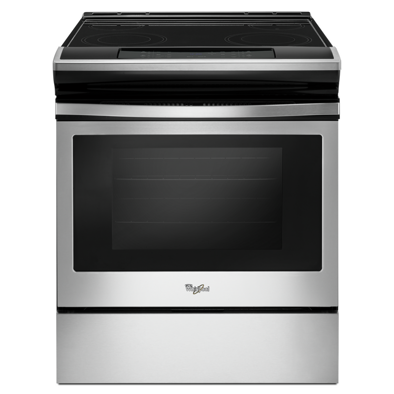 4.8 cu. ft. guided Electric Front Control Range with the easy-wipe ceramic glass cooktop YWEE510S0FB
