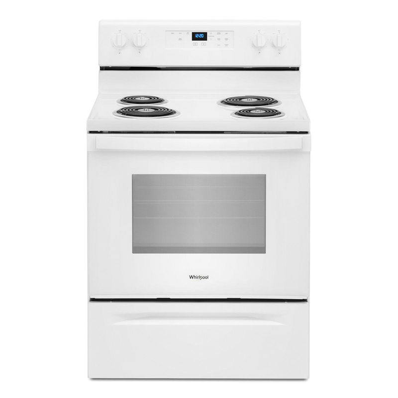 4.8 cu. ft. Whirlpool® electric range with Keep Warm setting YWFC315S0JW