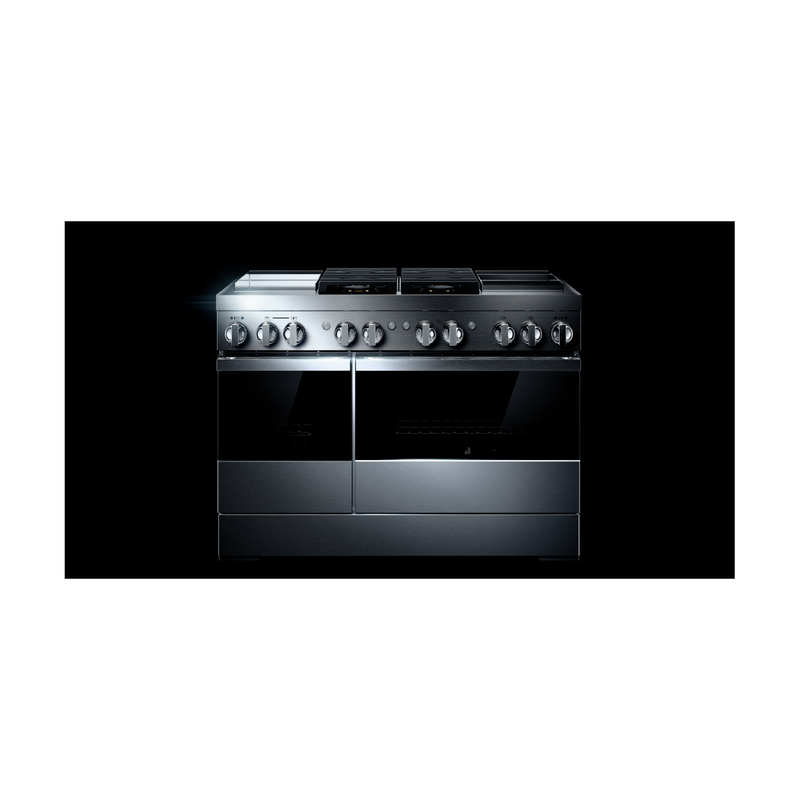 "NOIR™ 48"" Dual-Fuel Professional Range with Dual Chrome-Infused Griddles JDRP848HM"