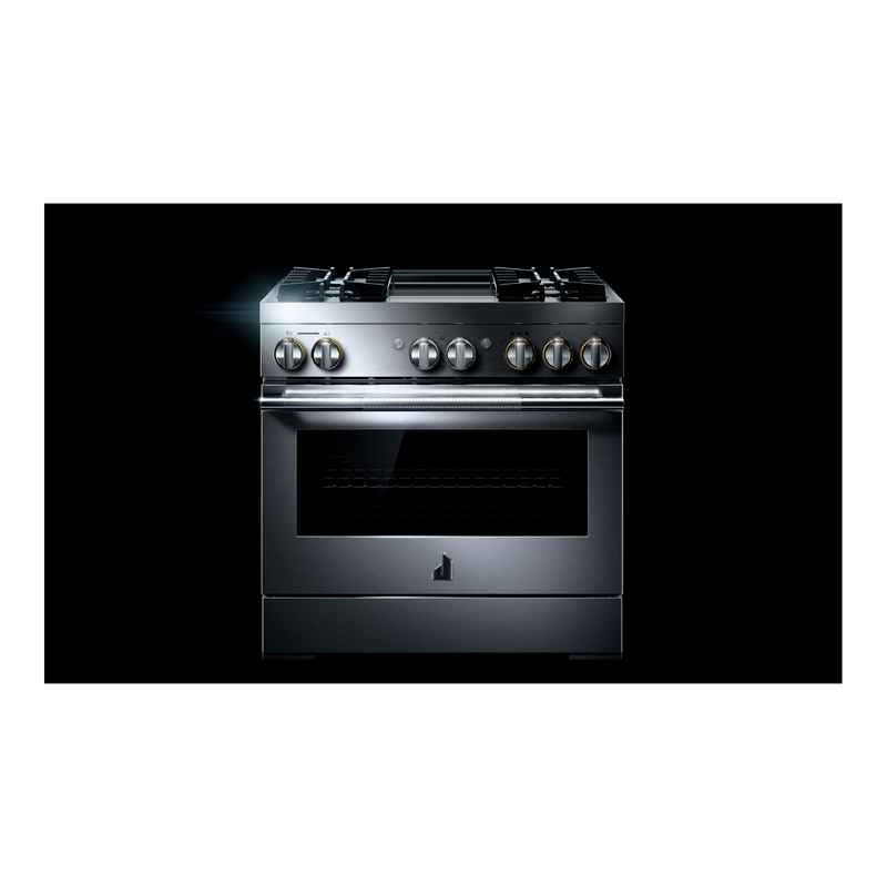"36"" RISE™ Dual-Fuel Professional-Style Range with Chrome-Infused Griddle JDRP536HL"