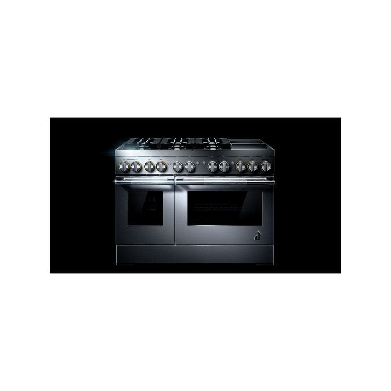 "RISE™ 48"" Dual-Fuel Professional-Style Range with Chrome-Infused Griddle and Steam Assist JDSP548HL"