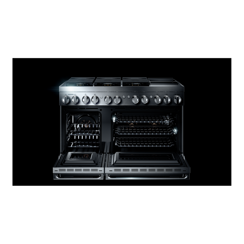 "NOIR™ 48"" Dual-Fuel Professional Range with Chrome-Infused Griddle JDRP548HM"