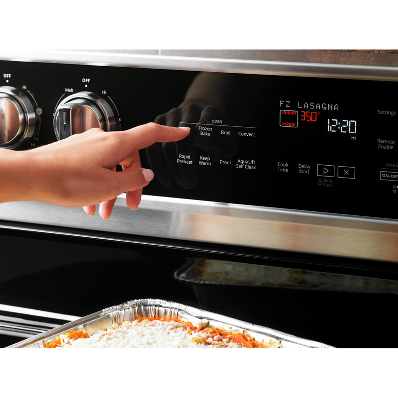 6.4 Cu. Ft. Smart Freestanding Electric Range with Frozen Bake™ Technology YWFE975H0HZ