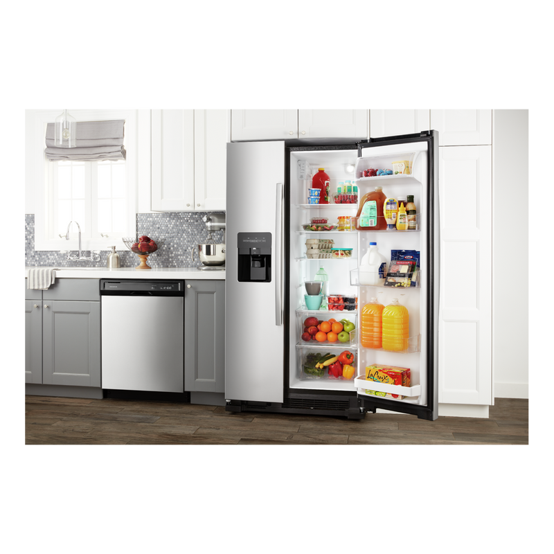 33-inch Side-by-Side Refrigerator with Dual Pad External Ice and Water Dispenser ASI2175GRS