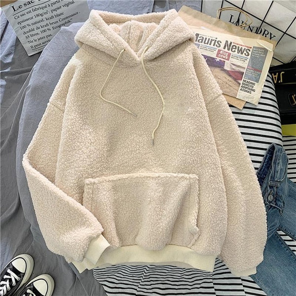 Thick fuzzy Hoodie