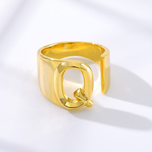 A-Z Initial Letter Wide Rings