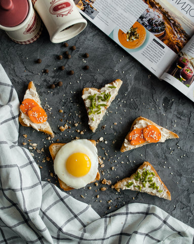 Lifestyle food image toast with toppings