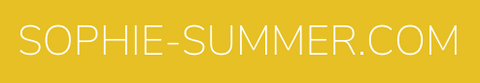 Sophie Summer logo white text on yellow