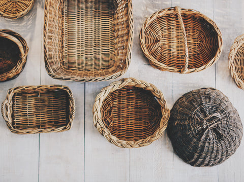 Multiple baskets - Unsplash image by Zachary Staines