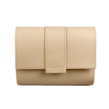 Kate CHI Crossbody bag, beige leather/wooden side walls - no strap
