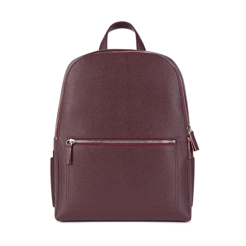 LUXTRA Farrell vegan backpack, burgundy/rose, front-facing