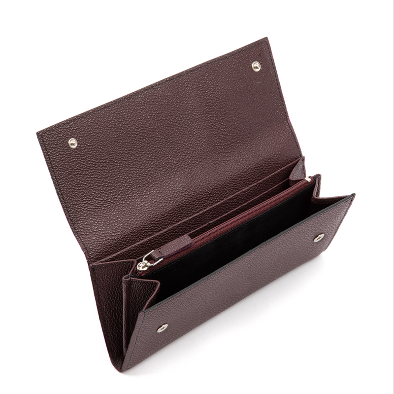 LUXTRA Esther vegan wallet burgundy, interior profile