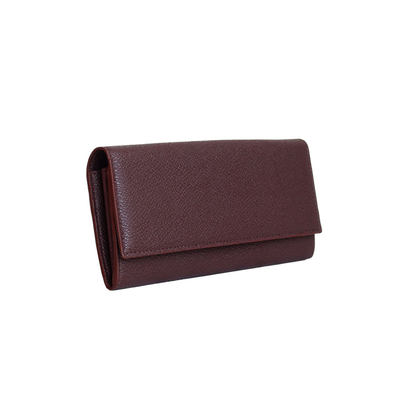 LUXTRA Esther vegan wallet burgundy, profile