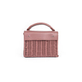 Wicker Wings Mini-Kuai Dusk handwoven wicker bag, front