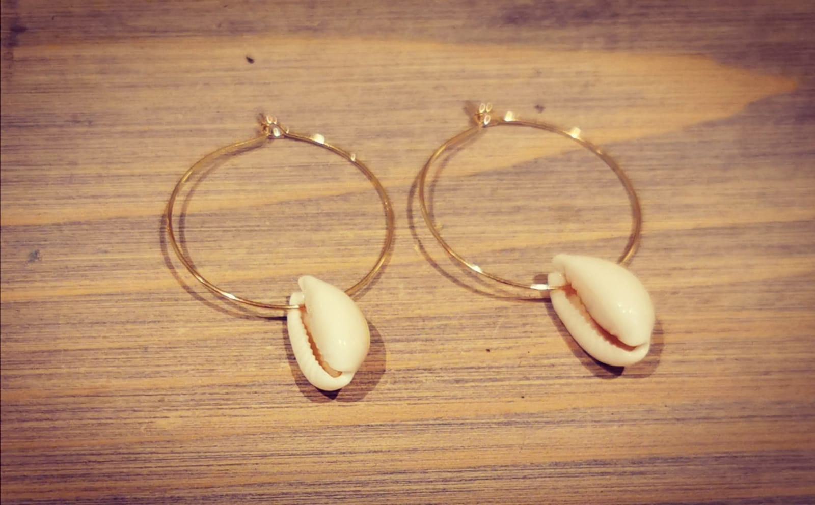Wittering's Gold Plated Loop Earrings