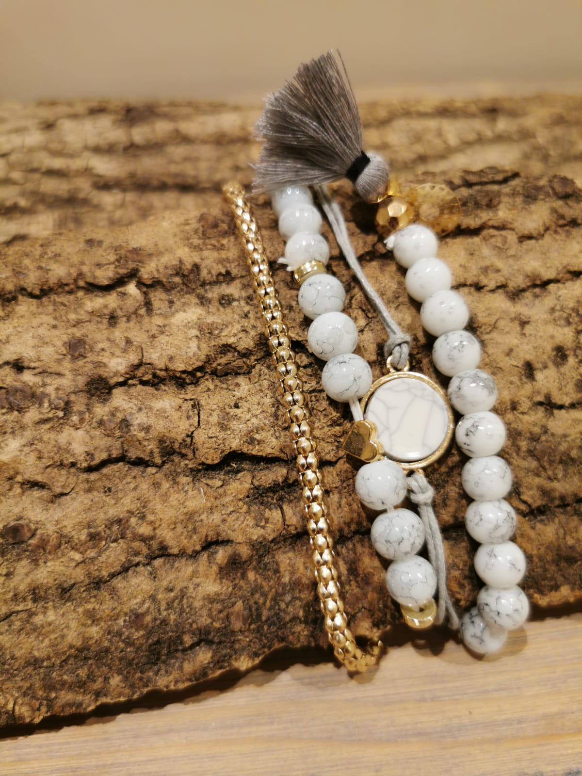 Collections of White Stone Bracelets