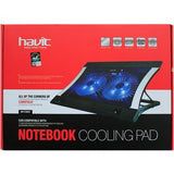 "Cooler p/Laptop, Havit HV-F2051, altura ajustable, diseño ergonómico ideal hasta 17"" C/Ne"