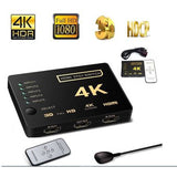 Multiplicador 5 Puertos Hdmi 4k Tv Dvd Switch Ultra Hd 5to1