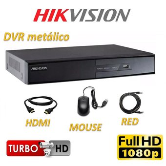 Cámaras Seguridad Kit 8 Hikvision HD 720p Disco 2Tb