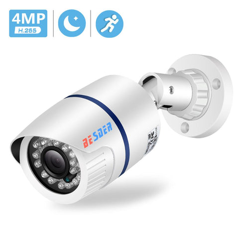 BESDER 4MP/3MP/2MP Wired IP Camera H.265 Outdoor Waterproof Security Camera ONVIF 20m Night Vision Motion Detect PoE HD Camera