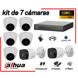 CÁMARAS SEGURIDAD KIT 7 DAHUA FULL HD 1080P