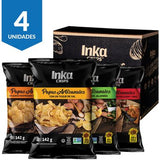 Four Pack Papas Artesanales Inka Chips Mix 4 Sabores x 142g