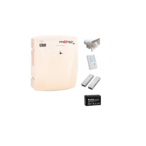 KIT PANEL DE ALARMA PROTEC 4 + LLAVERO INALAMBRICO