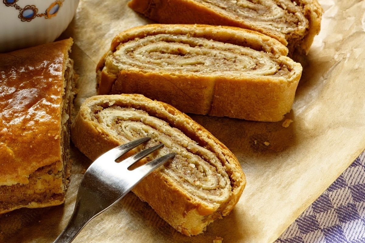 Almond Filled Hungarian Roll